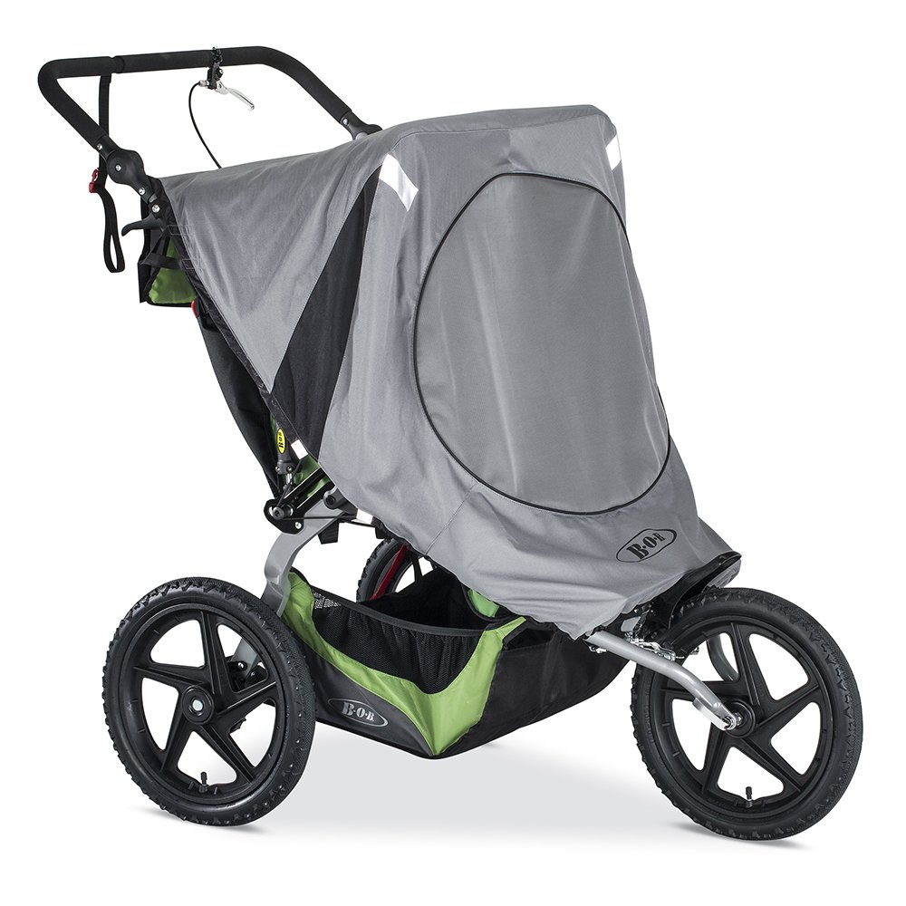 Amazon.com : BOB Sun Shield for Duallie Fixed Wheel Strollers, Grey : Baby