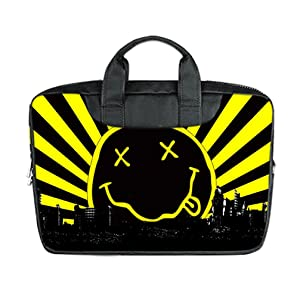 INSTALL AND EASY TO CARRY Wear& Slim &Dapper Nirvana Custom Waterproof Nylon Bag for Laptop 17 Inches(Twin sides)