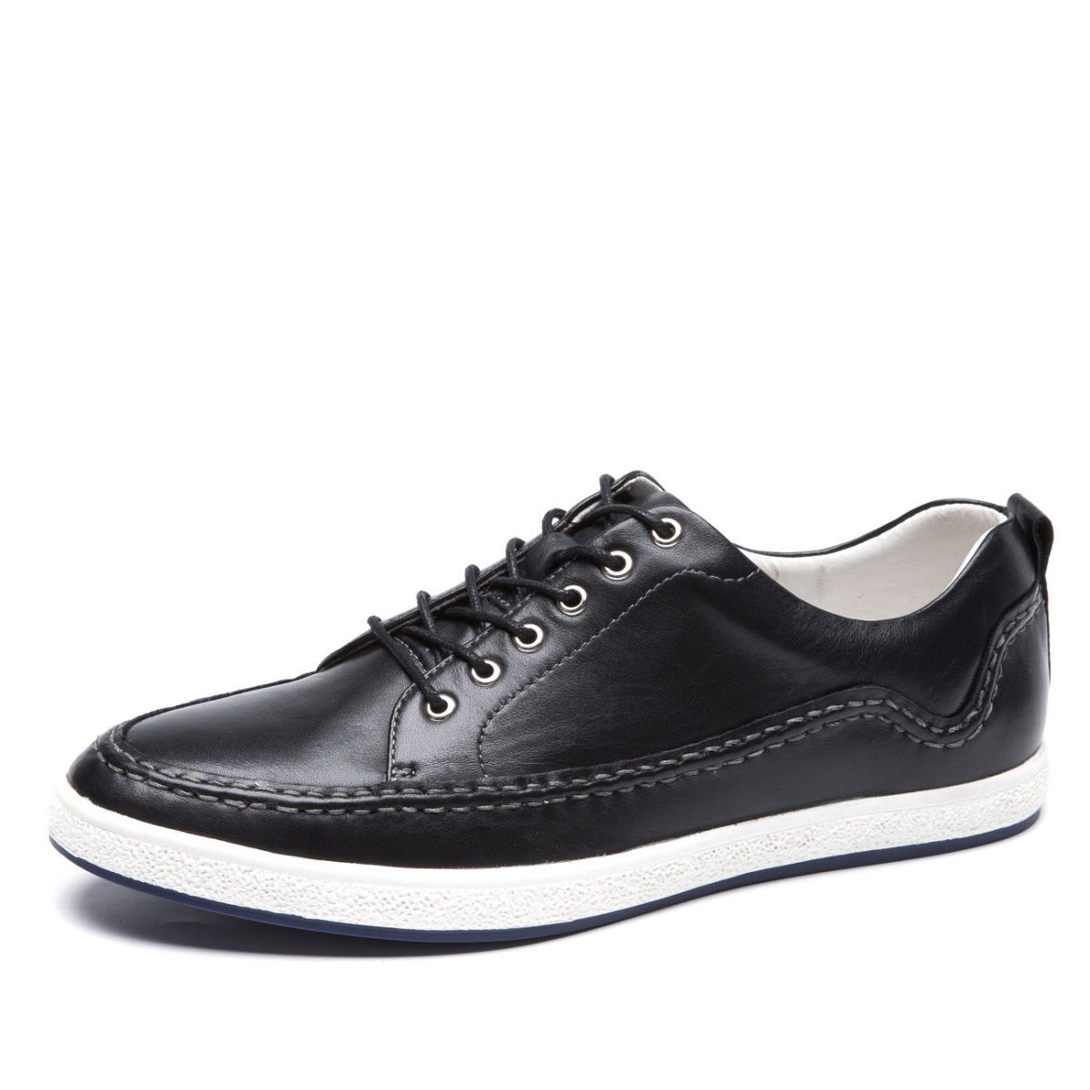 Gran De Los Hombres Zapatos Casuales Zapatos De Cuero De Los Hombres Zapatos De última Moda Zapatos De Los Hombres Jóvenes 41|Black