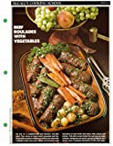 McCall's Cooking School Recipe Card: Meat 4 - Beef Roulades With Vegetables (Replacement McCall's Recipage or Recipe Card For 3-Ring Binders)