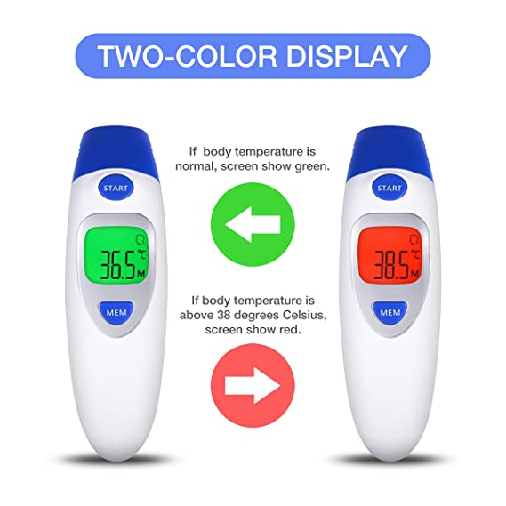 Termómetro médico infrarrojo de la frente y del oído del termómetro médico del bebé para el bebé infantil: Amazon.es: Bebé
