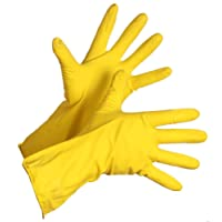 Rubber Hand Gloves Reusable Washing Cleaning Kitchen Garden (Color May Vary)