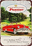1952 Pontiac Chieftain Convertible Vintage Look Reproduction Metal Tin Sign 8X12 Inches