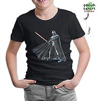 Lord Tshirt-Star Wars - Darth Vader Lightsaber Siyah Çocuk Tshirt