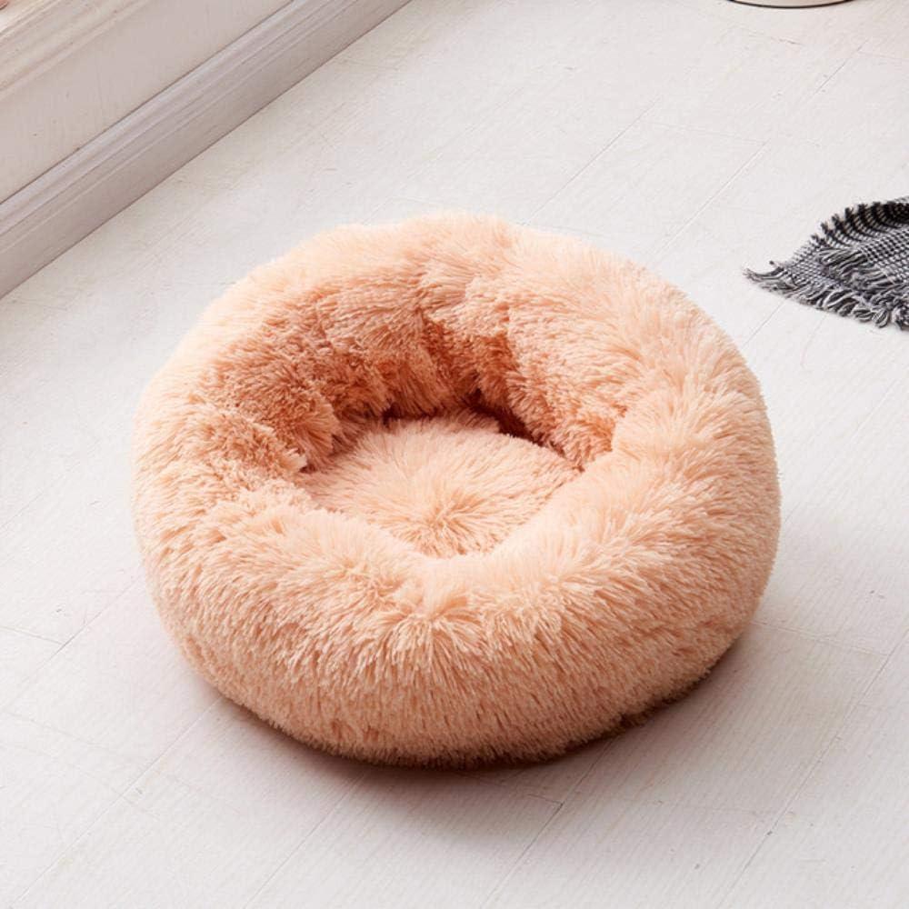 LONMN A lo Largo de Perro Rellenado Suave tamaño de la Cama de la Perrera Mascotas Saco de Dormir de Invierno Casa Redonda Gato Animales semillero Cesta,5,diámetro M 60 cm