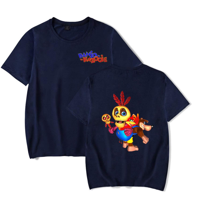 CONNOR WALTERS Banjo-Kazooie Mens Leisue T-Shirt Women Loose Short-Sleeved T-Shirt Black