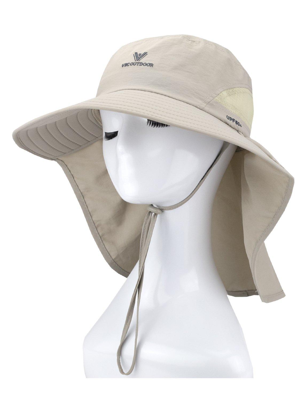 BonjourMrsMr Big Boys Girls Summer Wide Brim Neck Flap Sun Hat Cap Toddler Teens(12y-18y)