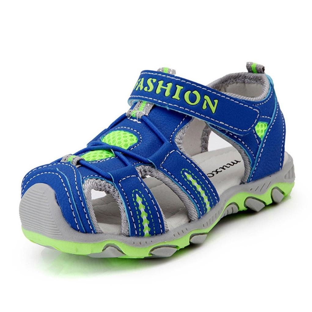 Corsion Toddler Kids Shoes Baby Boy Girl Closed Toe Summer Beach Sandals Shoes Sneakers
