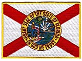 "Florida Flag Patch / Morale Iron-On Emblem (US State FL, 2.5"" x 3.5"")"