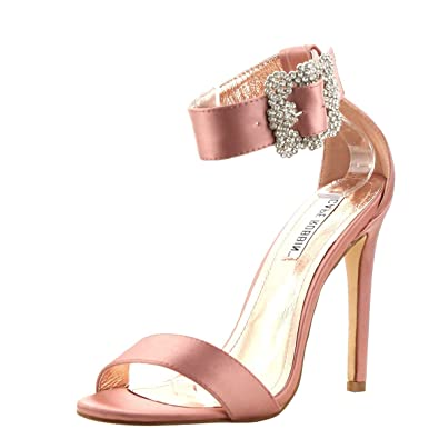8023da569b Amazon.com | CAPE ROBBIN Womens Open Toe Jeweled Rhinestone Buckle Ankle  Strap Party Dress Stiletto High Heel Sandals Shoes | Heeled Sandals
