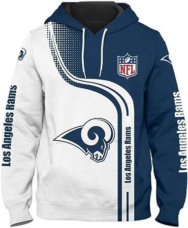 Sudadera hombres con capucha con logo del equipo de la NFL,La camiseta hombre manga larga NFL está c