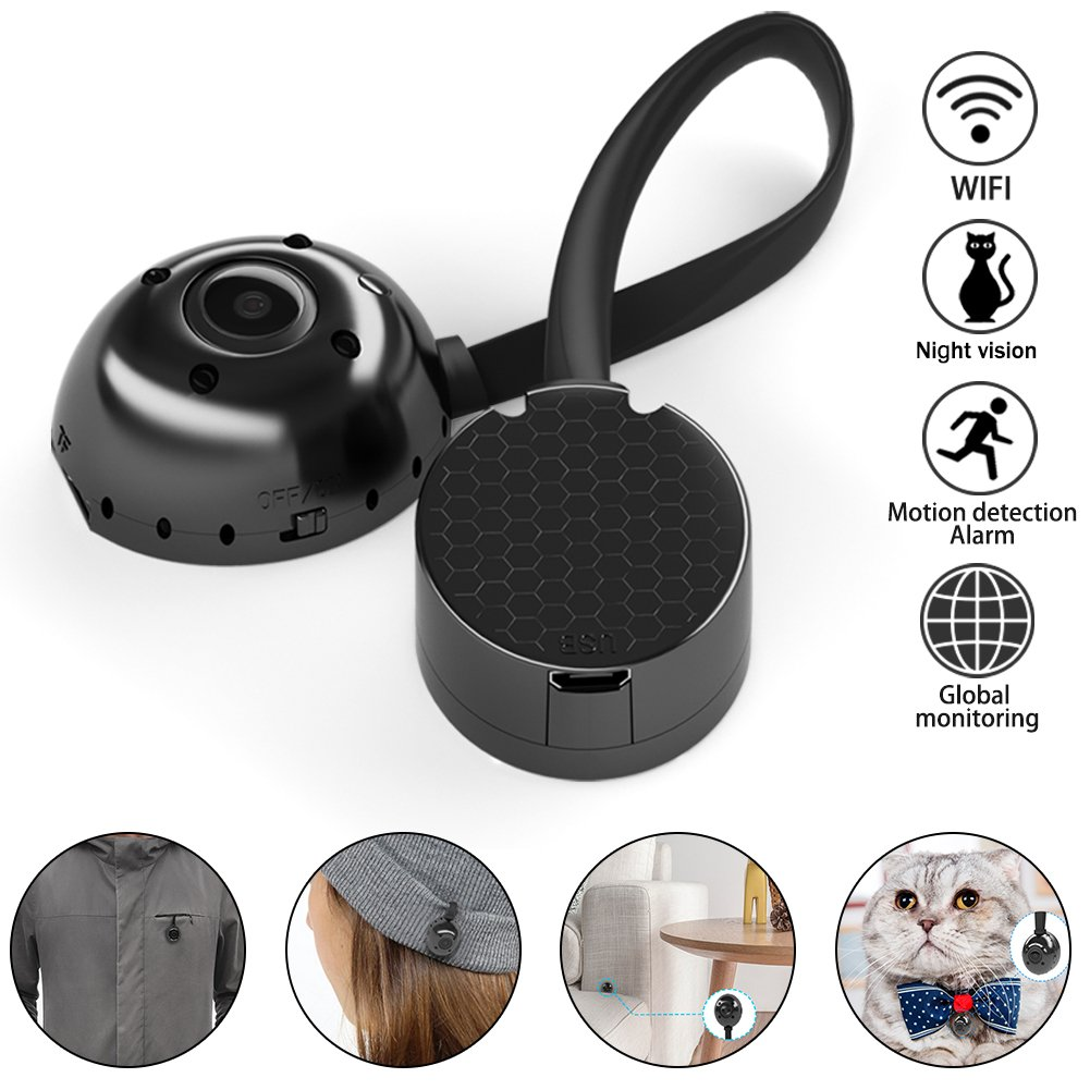 Wifi Hidden Camera Spy mini Pet Cameras HD 1080P Smallest Nanny Cameras Portable Video Recorder with Motion Detective Perfect Outdoor Covert Camera Remote View