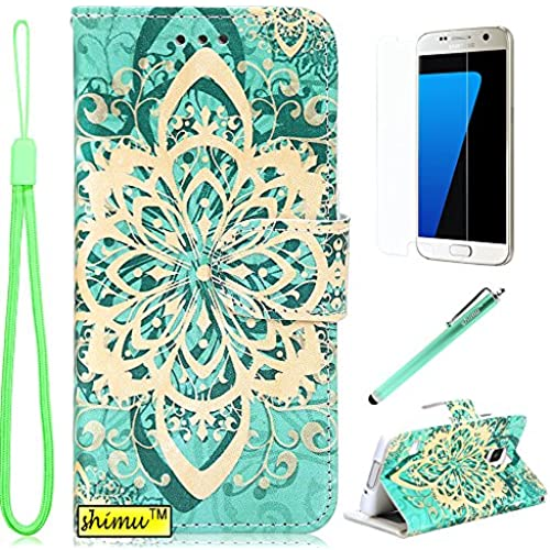 Galaxy s7 Edge Case, s7 Edge Case,Unique Elegant Flip Pu Leather Wallet Premium Cover by SHIMU for Samsung Galaxy Sales