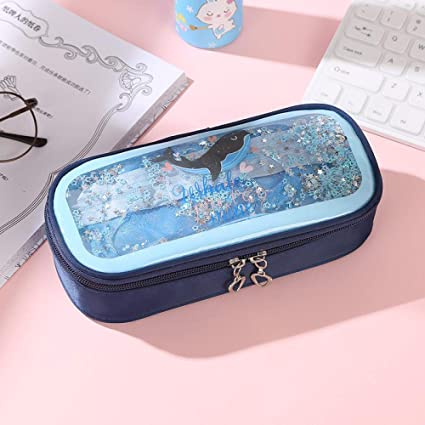 Pencil case Dark blue 1Pcs Pencil Case whale Estuches School ...