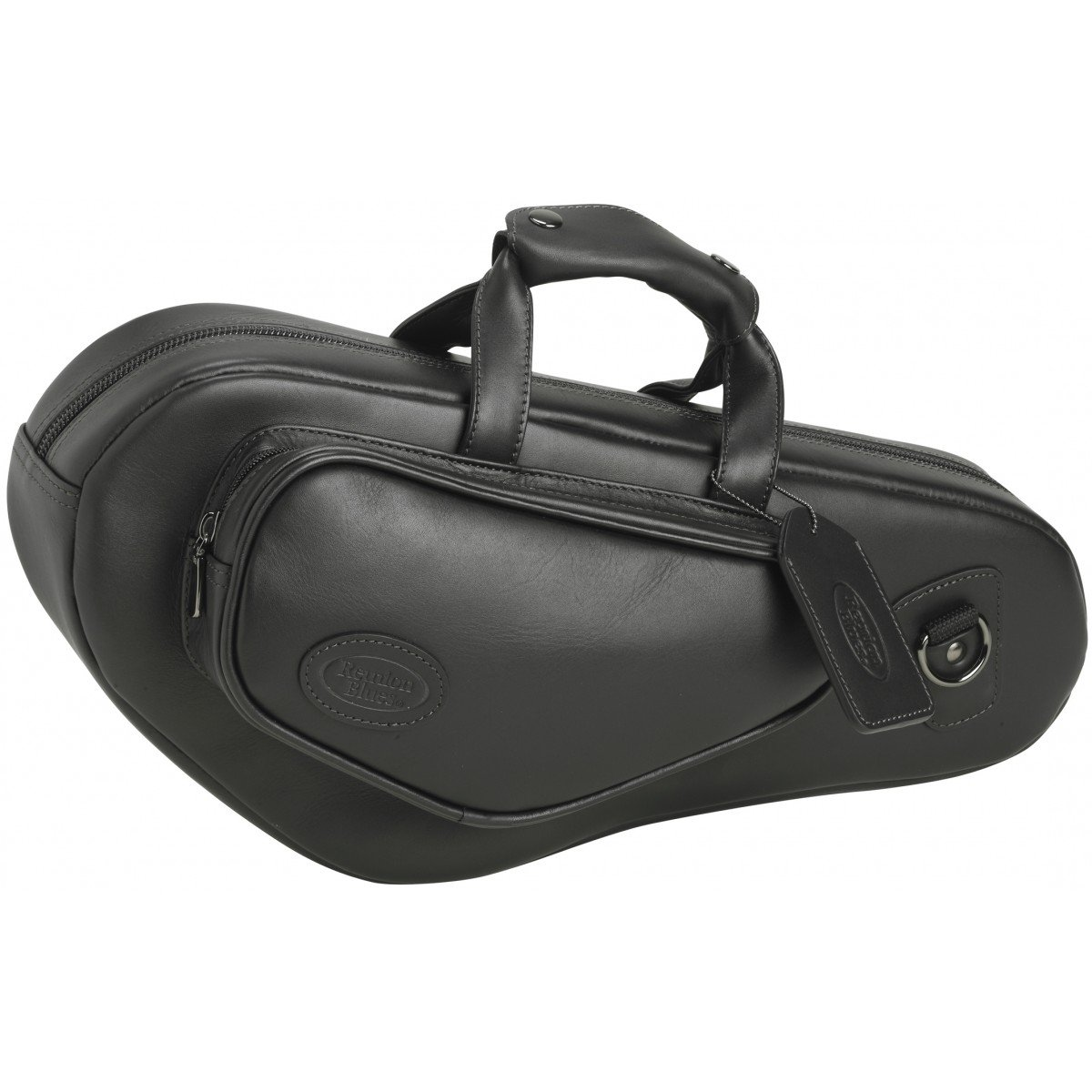 Reunion Blues Curved Soprano Saxophone Bag, Chestnut Brown Leather Ace Products Group 706-15-34
