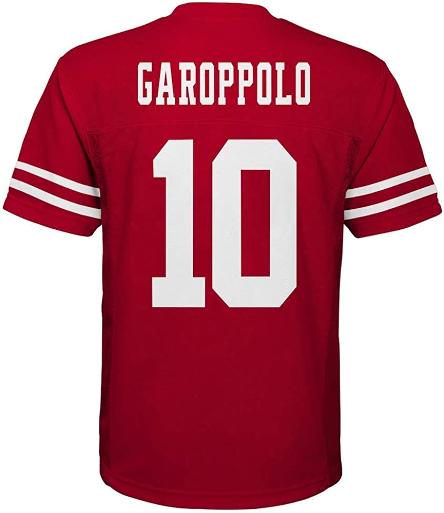 Kids 4 OuterStuff Jimmy Garoppolo San Francisco 49ers NFL Kids 4-7 Red Home Mid-Tier Jersey