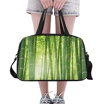 Amazon.com: Bolso de bambú con diseño de hojas verdes para ...
