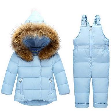 Lelestar - Traje de Nieve - para bebé niña Azul Claro 90 cm ...