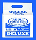 "Deluxe Adult Diapers Pullups Pants Large - Xl 80-120Cms / 31""-47"" (10Pcs)"