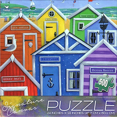 Rainbow Beach Huts By Peter Adderley 500 Puzzle