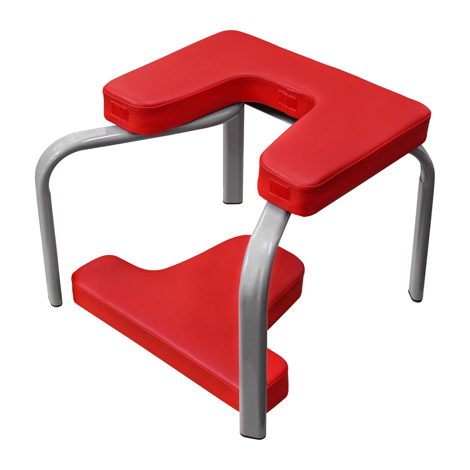 Veocore Yoga Chair Upside Down Inversion Bench U-Shaped Stool Gym Exercise-Red