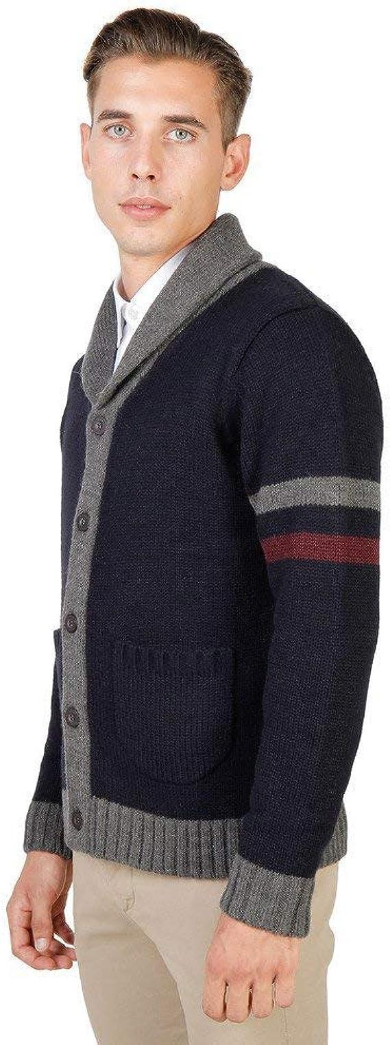 Modelo de suéter gris de la Universidad de Oxford de los hombres OXFORD/_TRICOT-v.