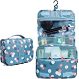 ColorMixs® Hanging Toiletry Kit Clear Travel BAG Cosmetic Carry Case Toiletry ( Blue Flower)
