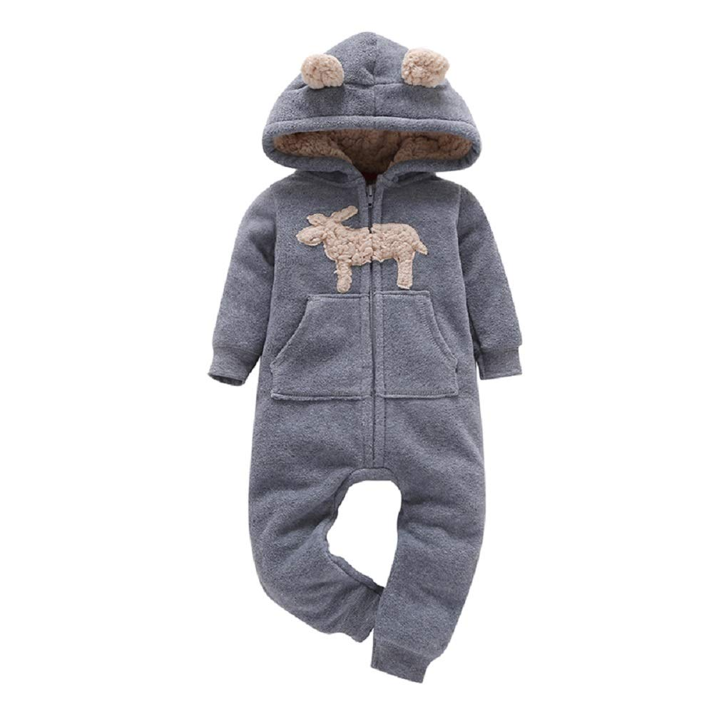 MOLYHUA Footed Pajamas Baby Unisex-Baby Warm Pajamas Organic Cotton Footed Overall