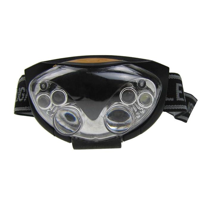 FENSIN - Cinta para la frente, 3 modos, 6 luces LED, faro para ...