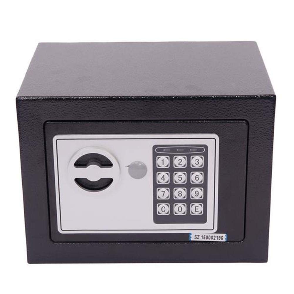 Lovinland Digital Electronic Safe Box, Small Size Steel Safety Storage Box for Money Jewelry Black by Lovinland