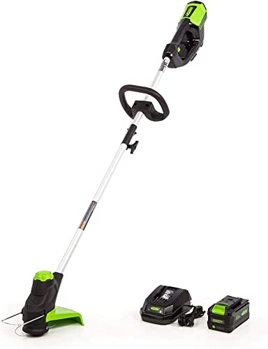 Greenworks 12-Inch 40V Cordless String Trimmer, 3.0Ah Battery and Charger IncludedST-120