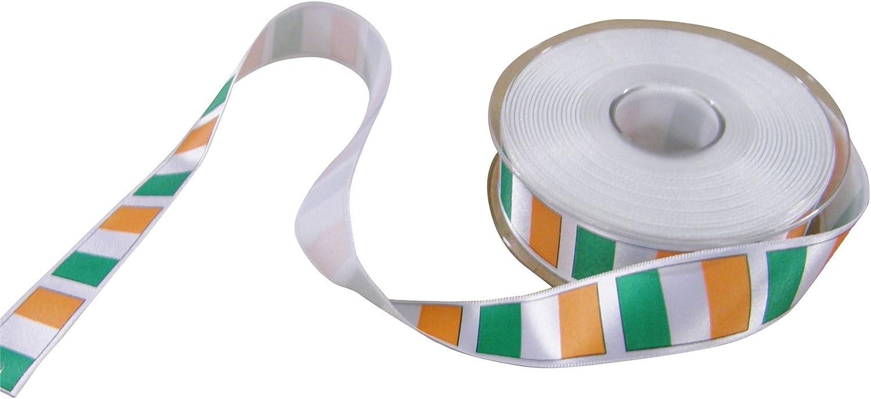 Bandera irlandesa blanco verde naranja cinta impresa 25 mm vendidos en dos longitudes rhinocables: Amazon.es: Jardín