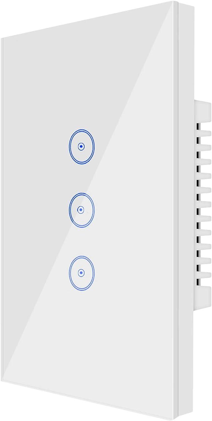 23 opinioni per Wi-Fi Smart Light Switch 3 Gang Jinvoo US Panel Switch, Smart Phone Remote Vetro