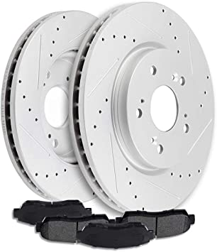 2009 2010 2011 2012 Fit Toyota Corolla OE Replacement Rotors w//Ceramic Pads R