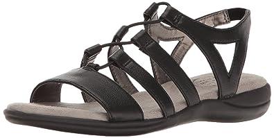 LifeStride Women's Eleanora Gladiator Sandal, Black, ...