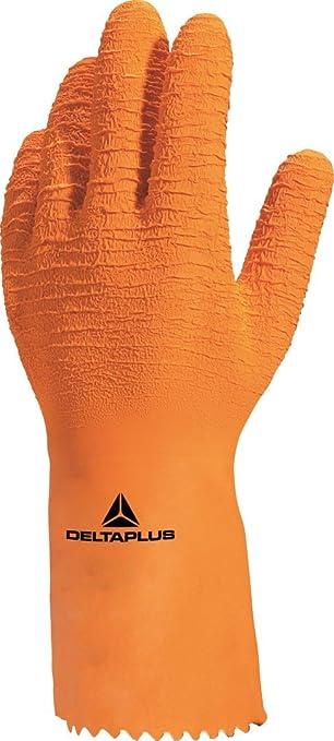 Delta plus guantes sinteticos - Guante latex con soporte algodón naranja rugoso talla 9: Amazon.es: Industria, empresas y ciencia