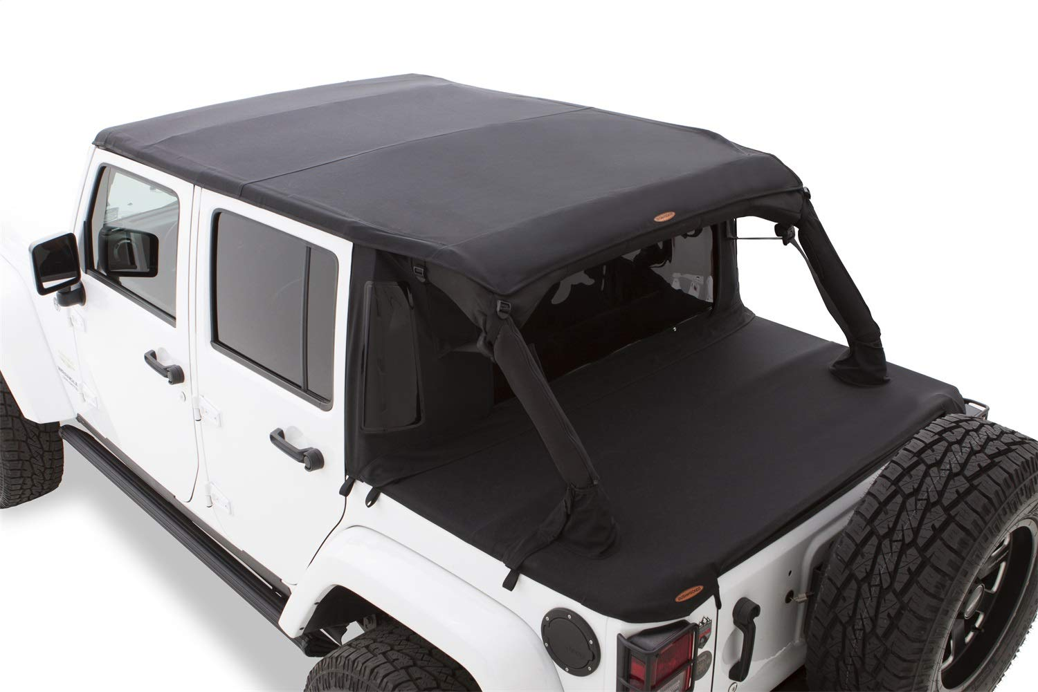 Jeep Soft Tops >> Bushwacker 15225 Trail Armor Twill Flat Back Soft Top For 2007 2018 Jeep Wrangler With 4 Doors