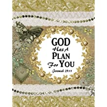 GOD Has a Plan for You - Jeremiah 29:11: Inspirational Bible Quote Notebook/Journal with 110 Lined Pages (8.5 x 11)