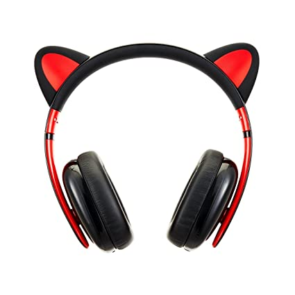 60d7610f479 Censi Music Headset Headphone Creative Cat Ear Stereo Over-Ear Game Gaming  Bass Headset Noise