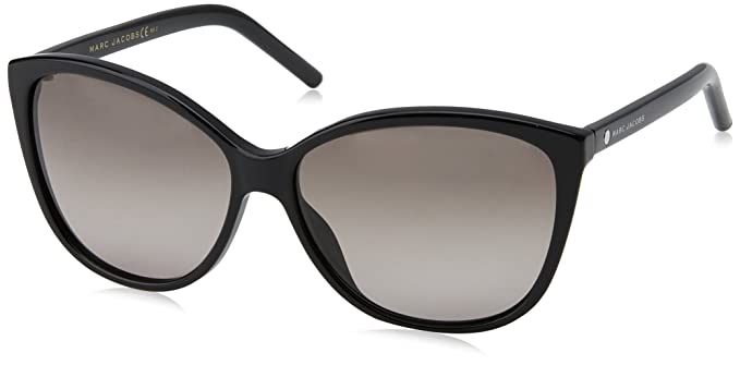 Marc Jacobs Damen Sonnenbrille Marc 128/S 9O 807, Schwarz (Black/Dark Grey SF), 55