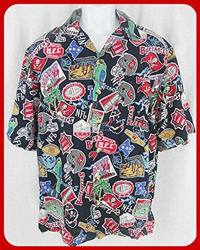TAMPA BAY BUCCANEERS NFL LICENSED HAWAIIAN SHIRT (XL) (Hawaiian Football Shirt)
