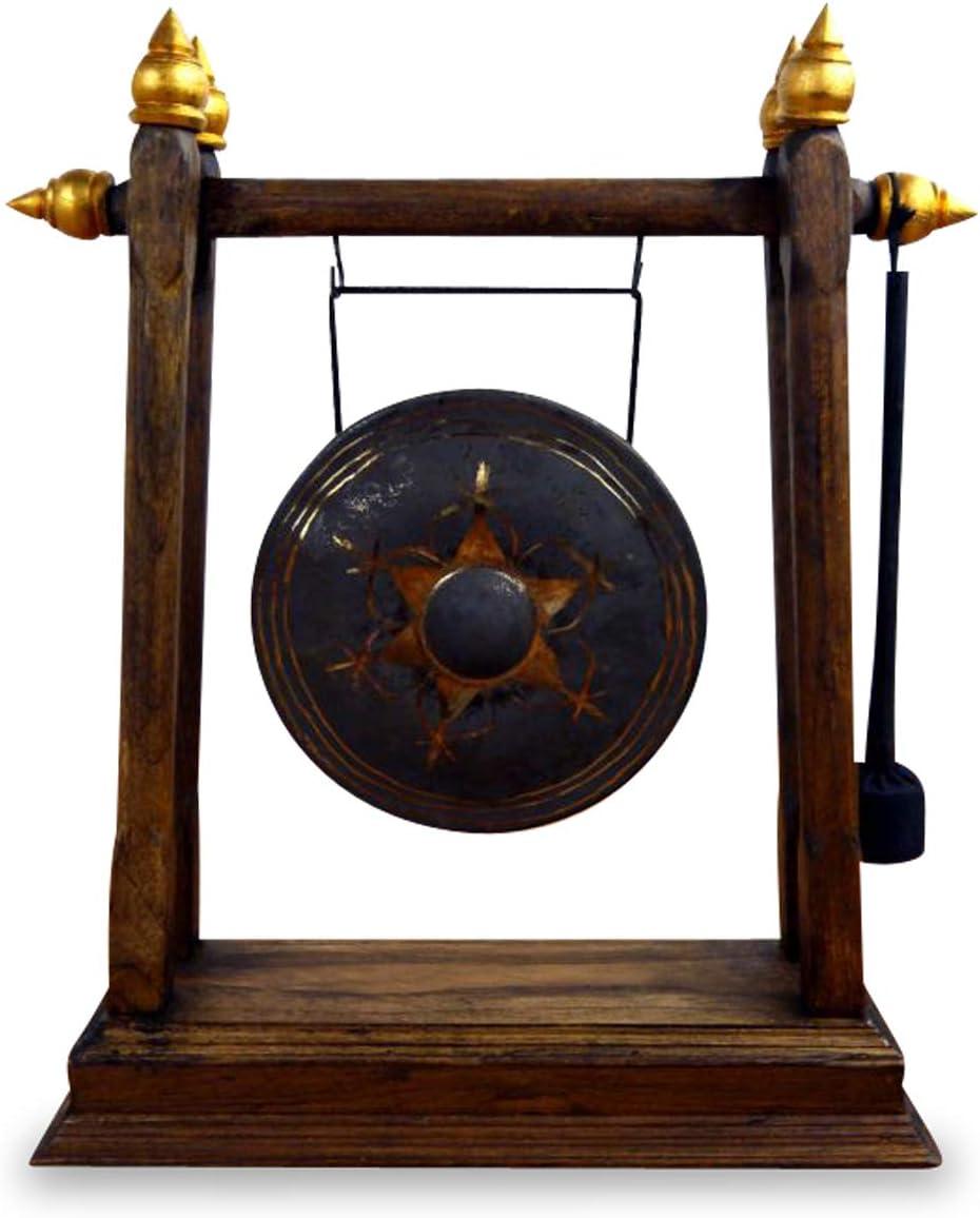 Tischgong mit Klöppel und Holzrahmen Tisch Gong Schlegel Feng Shui