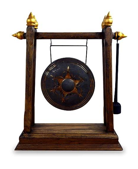 Gong de latón, diseño de Buda Gong con marco de madera para ...