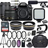 Nikon D7200 24.2 MP DSLR Camera Video Kit with AF-P 18-55mm VR Lens & AF-P 70-300mm ED VR Lens + LED Light + 32GB Memory + Filters + Macros + Deluxe Bag + Professional Accessories