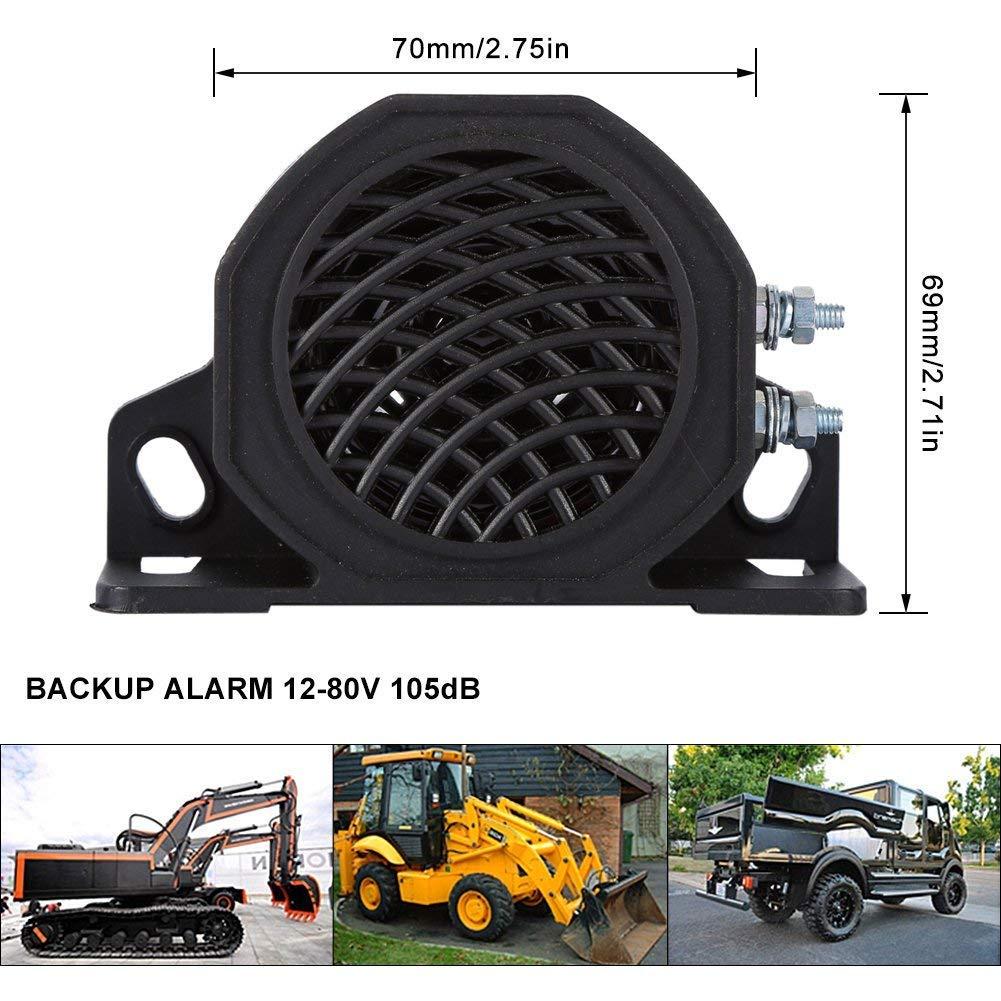 12V 105 DB Universal Car Truck Backup Reverse Beeper Warning Alarm Vehicle Horn Heavy Equipment Black