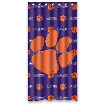 Good Custom Ncaa(Clemson Tigers) Waterproof Durable Shower Curtain Fabric  36u0026quot; ...