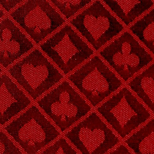 10' section of red two-tone poker table speed cloth - Polyester by Brybelly
