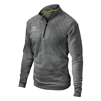 Amazon.com : Mizuno (MIZD9) 1/2 Zip Fleece Pullover : Sports ...