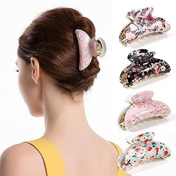 2pcs Women Spring Non-slip Hair Claw Clips 9 Teeth Hair Pin Hair Accessories