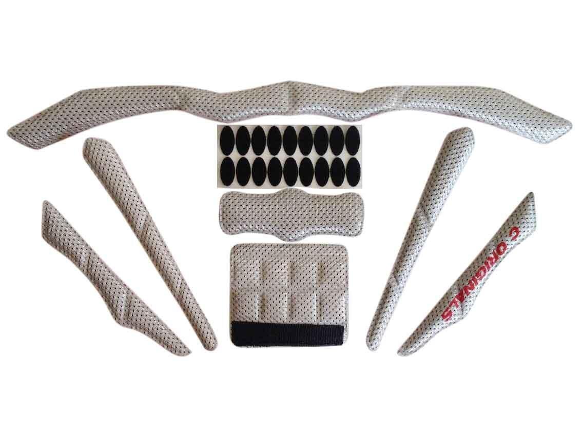 C Originals S380 - Conjunto de almohadillas universales de repuesto para casco bicicleta de ciclismo, Talla única